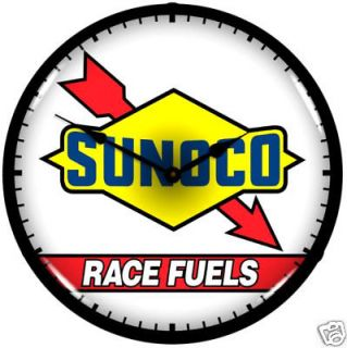 SUNOCO RACE FUELS CLASSIC STYLE BACK LIGHTED CLOCK