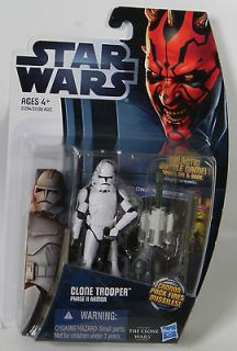 CLONE TROOPER PHASE 2 II ARMOR Star Wars 2012 NEW Action Figure #CW2