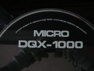 MICRO SEIKI DQX 1000 ACRYL SAFETY DUST COVER REPLICA copy