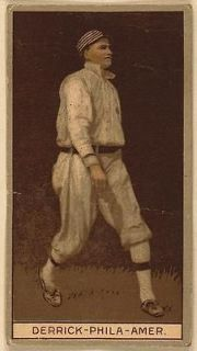Claude Derrick, Philadelphia Athletics, baseball 1912