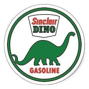 20 Vintage Sinclair Dino sign stickers   oilfield stickers, hard hat