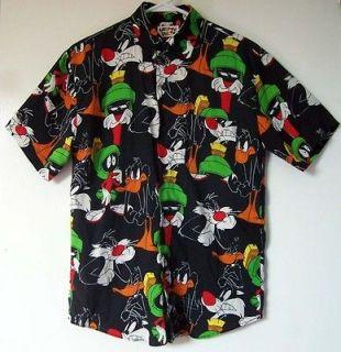 Looney Tunes BOY *Martian Marvin *Sylvester & *Daffy Duck Black Shirt