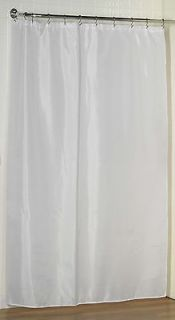 Extra Long Fabric Shower Curtain Liner/Water repellent/Weighted Hem/78