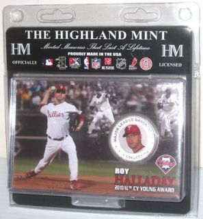 PHILADELPHIA PHILLIES BASEBALL HIGHLAND MINT COIN ROY HALLADAY CY