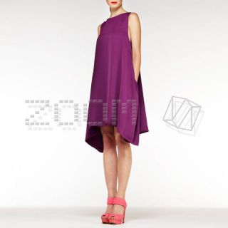 Aqua @ASOS Egg Mini Cocoon Shape Dress in PURPLE UK6 12 buy any2 Free