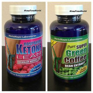 KETONE LEAN 1200mg & PURE GREEN COFFEE BEAN EXTRACT 800mg DR OZ *NEW