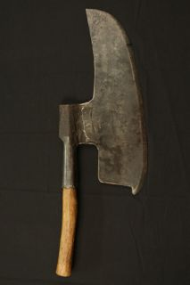 Circa 1600s Antique Long Broad Axe
