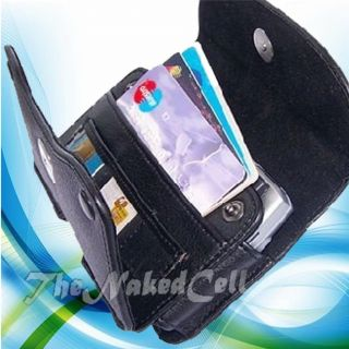 for HTC VIVID BLACK WALLET LEATHER CASE POUCH HOLSTER GUARD W/ BELT