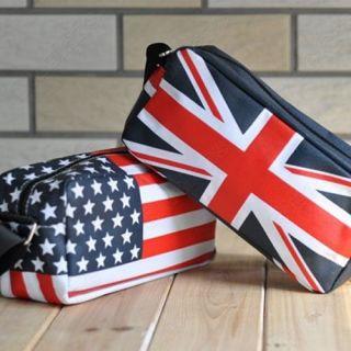 America UK England British Flag Clutch Evening Shoulder Bag Handbag