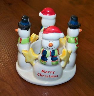 Circle of Friends Christmas SnowMan Votive Candle Holder Decoration