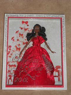 listed NEW, HOLIDAY BARBIE 2012, COLLECTOR BARBIE, AFRICAN AMERICAN