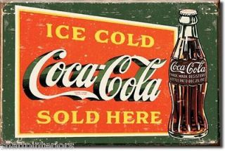 COLD COCA COLA SOLD HERE #2 VINTAGE STYLE BOTTLE ICE BOX FRIDGE MAGNET