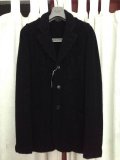 NWT Comme des Garcons boiled wool blazer jacket medium