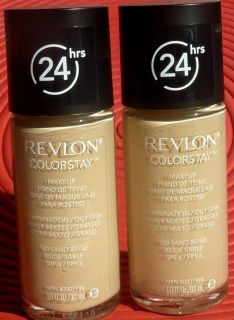 BN REVLON COLORSTAY 24HRS FOUNDATION NORMAL DRY SKIN SAND BEIGE 180