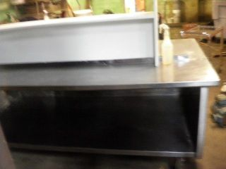... 8FT LONG 4FT WIDE STAINLESS STEEL PREP TABLE W/ TOPu0026BOTTOM SHELF W ...