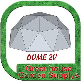 GREENHOUSE GEODESIC DOME FRAME 12 FT. 2V Frequency   With Marine Poly