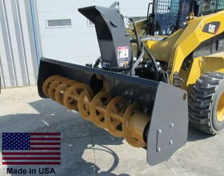 SNOW BLOWER Commercial   Skid Steer Mounted   96 Cut   High Flow   19