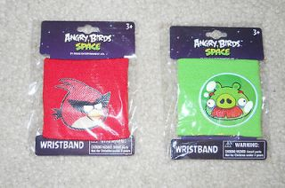 Angry Birds Space knit wristbands Choose from Red Bird or Green Pig