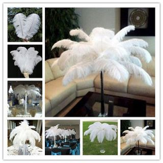 10pcs 6 22inch High Quality Natural OSTRICH FEATHERS white Color