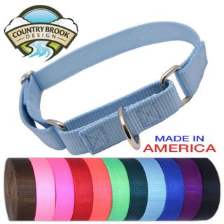 Brook Martingale Heavyduty Nylon Dog Collar (Various Sizes & Colors