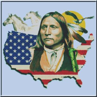Native American Flag Map Comanche Shirts S 2X,3X,4X,5X