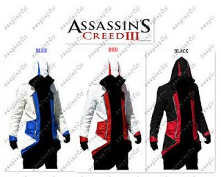Hot Assassins Creed III conner kenway Casual Cosplay Costume Blue, Red