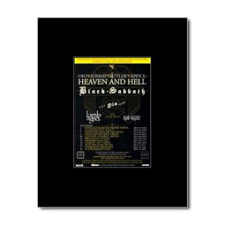 BLACK SABBATH   Heaven and Hell 2007   Black Matted Mini Poster