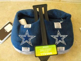 DALLAS COWBOYS NFL CHILD LOGO SLIPPERS NEW