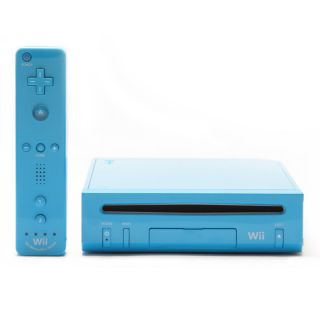 Nintendo Wii Limited Edition Blue console BUNDLE Lot System BRAND NEW