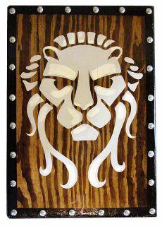 Early Roman LION SHIELD     sca/larp/celti c/gaul/viking/ norse/wood