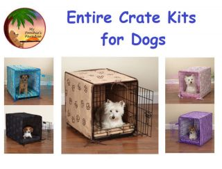 COMPLETE CRATE KITS for DOGS   Dog Crate Kit Crate, Crate Bed & Crate
