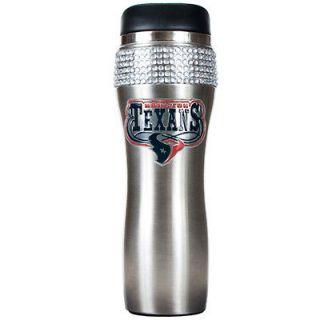 Houston Texans 16oz Stainless Steel Bling Tumbler