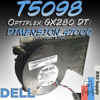 GX280 Low Profile CPU 4 Pin cooling fan 12 Volt 2.6 DB13733 T5098