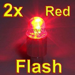 2X Red Car Bike Bicycle Tire Valve LED Lights Safety