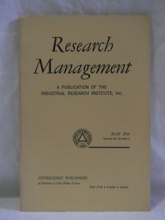 RESEARCH MANAGEMENT ~ MAY 1964 ~ VOL. VII, NO. 3 ~ INDUSTRIAL RESEARCH