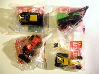 Tonka Trucks Construction Vehicles Complete Set of 4 Happy Meal Toy