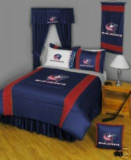 COLUMBUS BLUE JACKETS 5PC TWIN BEDDING SET Hockey NHL