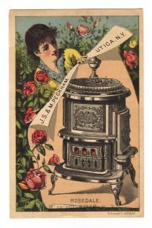 5006 Rosedale Parlor Stove Trade Card