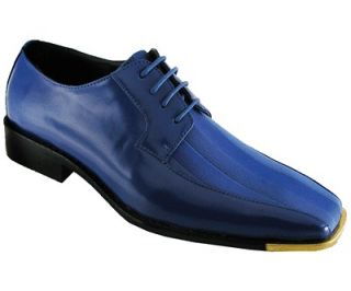 Bolano Mens Royal Blue Satin Gold Tip Style 174GT 052 Formal dress