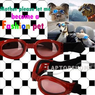Cool Life Pet Dog UV Goggles Sun Glasses Pet Cute Glasses Red