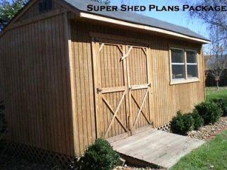 Design Shed Plans, 12x16 Gable Storage, DIY Wood Shed Plans Set on CD