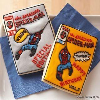 New Disney MARVEL Cookie Cutters Set Spiderman Comic Book
