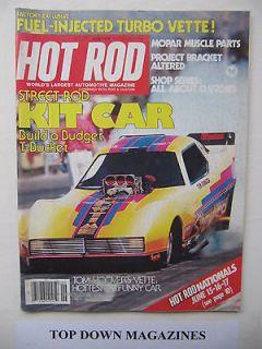Hot Rod June 1979 Street Rod Kit Car T Bucket F I Turbo Vette