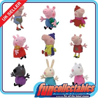 Ty Peppa Pig, George & Friends   Choose Your 6 Inch Character Soft