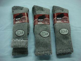 NWT Womens Bear Tooth Merino Wool Blend Boot Sock 3 pr. Grey/Black Med