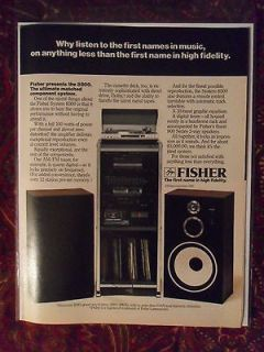 1982 Print Ad FISHER Stereo Component System ~ The First Name In High