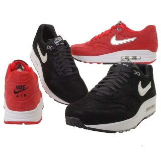 Nike Wmns Air Max 1 Premium Black / Red Womens Running Shoes From $109