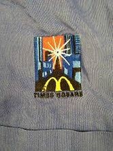 McDonalds Uniform Long Sleeve Blue Shirt Size Large McDonalds Times
