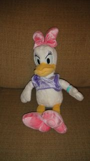 16 Disney Store Daisy Duck Pink Bow & Shoes Lilac Shirt Stuffed