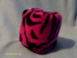 HOT PINK AND BLACK ZEBRA STRIPES TOILET PAPER COVER
